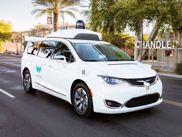 self-driving Way minivan